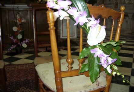 décoration de chaises mariés