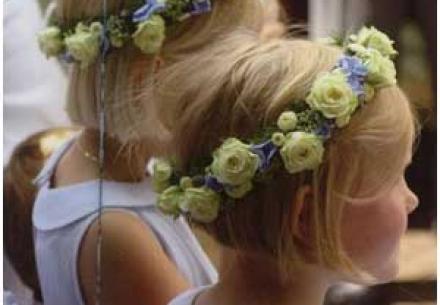 couronne fleurs cheveux